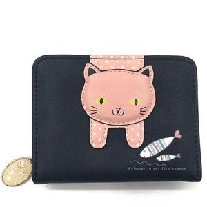 Handbags - Black Cat & Fish Wallet